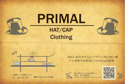 帽子&clothing PRIMAL